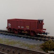 Trenes Escala: ELECTROTREN H0 VAGÓN UNIFICADO TIPO X CON GARITA, DE RENFE, REFERENCIA 0606.. Lote 221618857