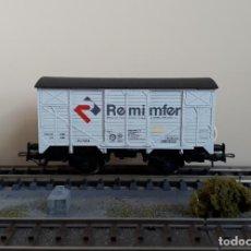 Trenes Escala: ELECTROTREN H0 VAGÓN CERRADO UNIFICADO, DE REMIMFER, REFERENCIA 19001.. Lote 221619578