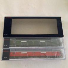 Trenes Escala: ELECTROTREN. HO REF E5228 SET DOS FURGONES RENFE. Lote 222323123