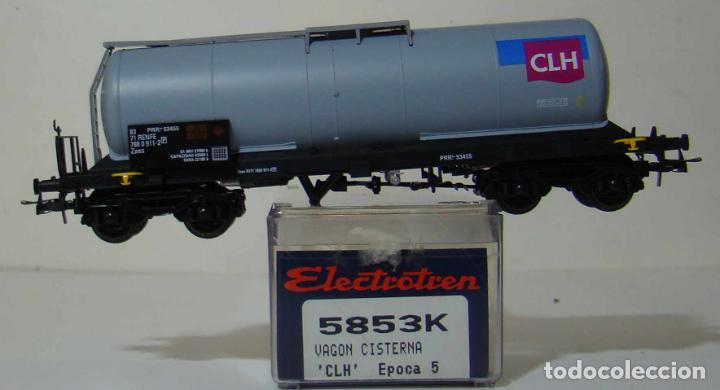 VAGON CISTERNA CLH DE RENFE REF: 5853 ESCALA H0 (Juguetes - Trenes Escala H0 - Electrotren)
