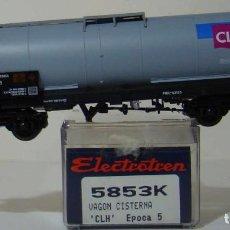 Trenes Escala: VAGON CISTERNA CLH DE RENFE REF: 5853 ESCALA H0. Lote 222504660