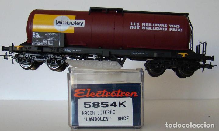 VAGON CISTERNA LAMBOLEY DE LA SNCF REF: 5854 ESCALA H0 (Juguetes - Trenes Escala H0 - Electrotren)