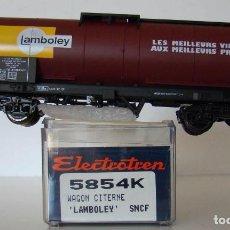Trenes Escala: VAGON CISTERNA LAMBOLEY DE LA SNCF REF: 5854 ESCALA H0. Lote 222504748