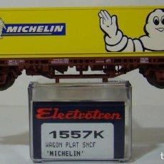 Trenes Escala: VAGON PLATAFORMA CON CONTENEDORE MICHELIN DE LA SNCF REF: 1557 ESCALA H0. Lote 222505245