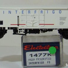 Trenes Escala: VAGON FRIGORIFICO INTERFRIGO DE LA FS REF: 1477 ESCALA H0. Lote 222505548