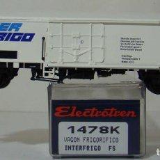 Trenes Escala: VAGON FRIGORIFICO INTERFRIGO DE LA FS REF: 1478 ESCALA H0. Lote 222505597