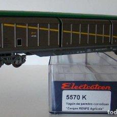 Trenes Escala: VAGON PUERTAS CORREDERAS CARGAS RENFE REF: 5570 ESCALA H0. Lote 222506510