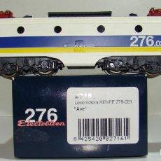 Trenes Escala: ELECTROTREN LOCOMOTORA 276 AVE DE RENFE REF: E2716 CC ESCALA H0. Lote 223965020