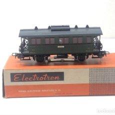 Comboios Escala: ELECTROTREN H0 1503 - VAGÓN MZA DOS EJES COSTA CORTO VIAJEROS CON BALCONCILLOS Y LUZ ALTERNA. Lote 224146723
