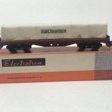 Trenes Escala: ELECTROTREN H0 5126 - PLATAFORMA CUATRO EJES CON TOLDO. Lote 224147575