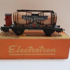 Trenes Escala: ELECTROTREN H0 801 - VAGÓN CUBAS FEDERICO PATERNINA CON GARITA. Lote 225032610