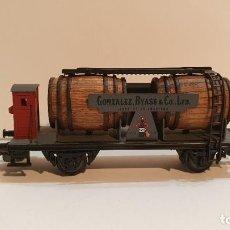 Trenes Escala: ELECTROTREN H0 801 - VAGÓN CUBAS GONZALEZ BYASS CON GARITA. Lote 225039440