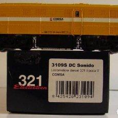 Trenes Escala: ELECTROTREN LOCOMOTORA DIESEL 321 COMSA REF : 3109S ESCALA H0 DC SONIDO. Lote 227221055
