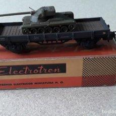 Trenes Escala: VAGON ELECTROTREN HO TRANSPORTE TANQUE ANTIGUO. Lote 227231165