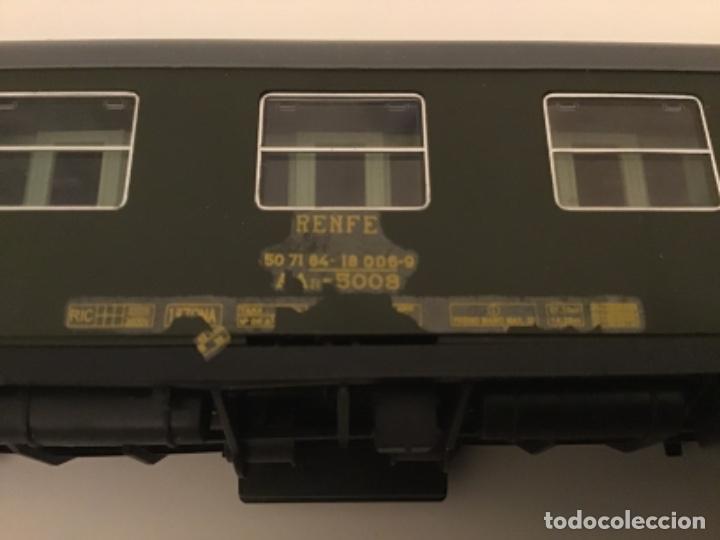 Trenes Escala: Electrotren H0. Vagón primera y cafetería Renfe. Atlántico expreso.Muy buscado. Con luces. - Foto 9 - 214920752