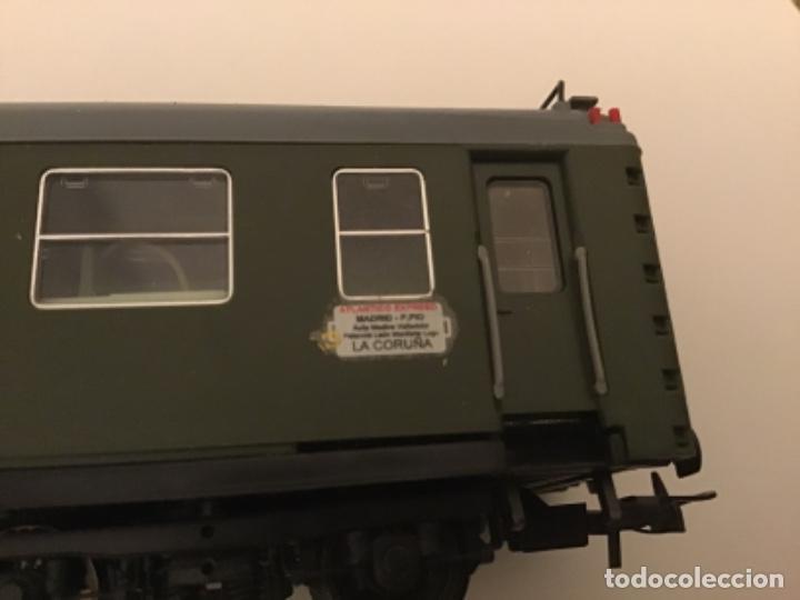 Trenes Escala: Electrotren H0. Vagón primera y cafetería Renfe. Atlántico expreso.Muy buscado. Con luces. - Foto 11 - 214920752