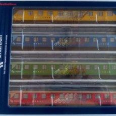 Comboios Escala: ELECTROTREN H0 CONJUNTO VAGONES COCHES DE PASAJEROS CHARTREN EN CAJA. VÁLIDO IBERTREN,MARKLIN,ETC. Lote 232270885
