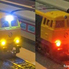 Trenes Escala: KIT DE LUCES LED PARA LA LOCOMOTORA 333 DE ELECTROTREN. Lote 276190313