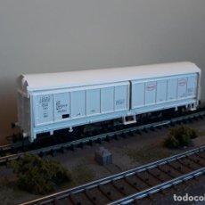 Trenes Escala: ELECTROTREN H0 VAGÓN CERRADO DE PAREDES CORREDIZAS *HENKEL* DE LA DB, REFERENCIA 1589K.. Lote 233872000
