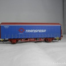 Trenes Escala: VAGÓN CERRADO TRANFESA ESCALA HO ELECTROTREN. Lote 233913030