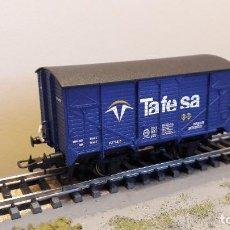 Trenes Escala: ELECTROTREN H0 VAGÓN CERRADO UNIFICADO RENFE, DE TAFESA, REFERENCIA 19000.. Lote 233961775