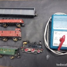 Treni in Scala: LOTE ELECTROTREN MAQUINA TREN Y VAGONES. Lote 234499580