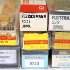 Trenes Escala: FLEISCHMANN + ELECTROTREN + LILIPUT LOTE 8 VAGONES HO – CAJA ORIGINAL. Lote 235001975