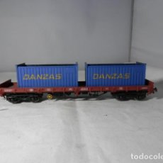 Trenes Escala: VAGÓN PORTACONTENEDOR ESCALA HO DE MARKLIN. Lote 235847840