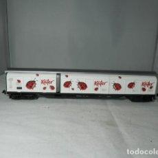 Trenes Escala: VAGÓN PUERTAS CORREDERAS ESCALA HO DE ELECTROTREN. Lote 235849200