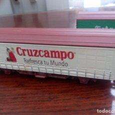 Trenes Escala: VAGÓN CERVEZA CRUZCAMPO. Lote 235978610