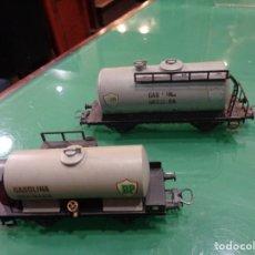Trenes Escala: DOS VAGONES ELECTROTREN BP. Lote 236424395