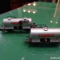 Trenes Escala: 2 VAGONES ELECTROTREN CAMPSA. Lote 236427600