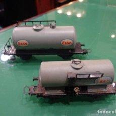 Trenes Escala: 2 VAGONES ELECTROTREN ESSO. Lote 236429495