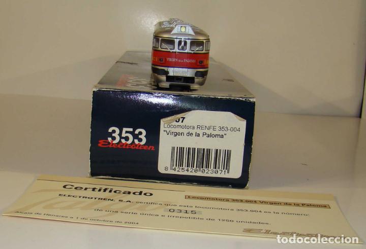 Trenes Escala: ELECTROTREN LOCOMOTORA 353-004 VIRGEN DE LA PALOMA SERIE LIMITADA DC ESCALA H0 - Foto 3 - 237008885