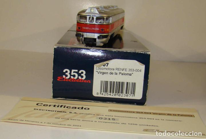 Trenes Escala: ELECTROTREN LOCOMOTORA 353-004 VIRGEN DE LA PALOMA SERIE LIMITADA DC ESCALA H0 - Foto 4 - 237008885