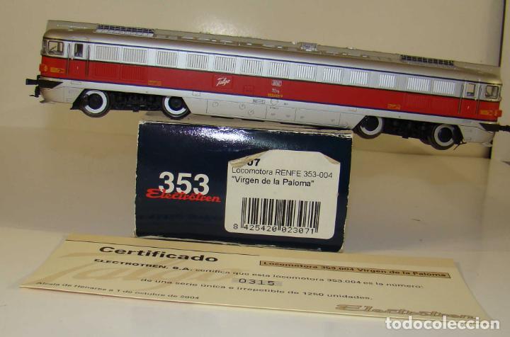 ELECTROTREN LOCOMOTORA 353-004 VIRGEN DE LA PALOMA SERIE LIMITADA DC ESCALA H0 (Juguetes - Trenes Escala H0 - Electrotren)