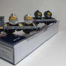 Trenes Escala: ELECTROTREN SET 2 PLATAFORMAS GRIS CON DEPÓSITO ESCALA H0 REFERENCIA E 19014, NUEVO. Lote 237172660