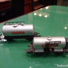 Trenes Escala: DOS VAGONES ELECTROTREN CAMPSA. Lote 237369465