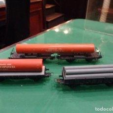 Trenes Escala: TRES VAGONES ELECTROTREN. Lote 237376150