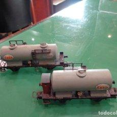 Trenes Escala: DOS VAGONES ELECTROTREN ESSO HO. Lote 237461635