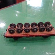 Trenes Escala: VAGON ELECTROTREN CARGA RUEDAS. Lote 237477370