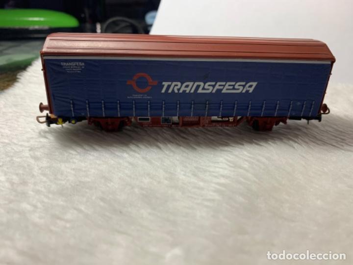 Trenes Escala: VAGON DE TREN TRANSFESA DE ELECTROTREN H0. TIENE PICO ROTO. - Foto 4 - 239963890