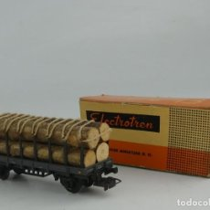 Comboios Escala: VAGÓN DE TREN GRIS CONTRONCOS DE MADERA. ELECTROTRÉN H0. Lote 241138275