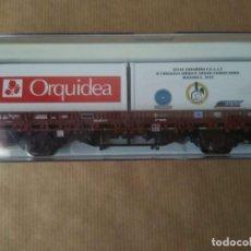 Trenes Escala: PLATAFORMA CON CONTENEDORES MARCA ELECTROTREN ESCALA H0 SERIE LIMITADA. Lote 241963445