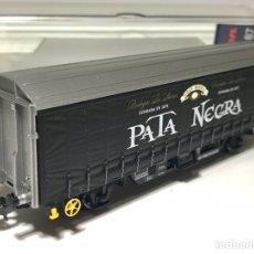 Trenes Escala: ELECTROTREN 1632K VAGÓN CERRADO HINS PATA NEGRA. Lote 242817675