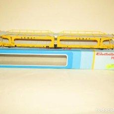Trenes Escala: ANTIGUO VAGÓN DOBLE PORTACOCHES SEMAT RENFE EN ESCALA *H0* REF. 6001 DE ELECTROTREN MADE IN SPAIN. Lote 243147935