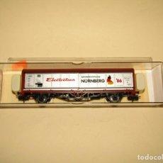 Trenes Escala: VAGÓN 4 PUERTAS TELESCÓPICAS EN ESCALA *H0* FERIA DEL JUGUETE NUREMBERG DEL AÑO 1986 DE ELECTROTREN. Lote 243181645