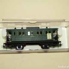 Trenes Escala: ANTIGUO COCHE 3ª CLASE MZA CFFV VERDE REF. 1511K EN ESCALA *H0* 1/87 DE ELECTROTREN. Lote 243214865