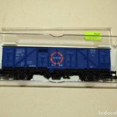 Trenes Escala: ANTIGUO VAGÓN CERRADO TRANSFESA DB REF. 1331K EN ESCALA *H0* 1/87 DE ELECTROTREN. Lote 243218635