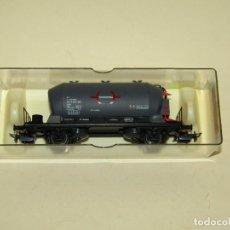 Trenes Escala: ANTIGUO VAGÓN TRANSPORTE DE CARBONATO SOSA TRANSFESA RENFE REF. 1610 ESCALA *H0* 1/87 DE ELECTROTREN. Lote 243220385